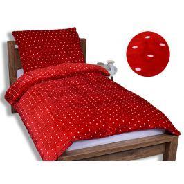 Homeville Homeville povlečení mikroplyš bílé puntíky/červená 140x200/70x90 cm