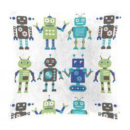 Mistral home Dětský polštářek beránek Mistral Home Roboti 40x40 cm