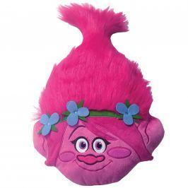 CTI CTI 3D hlava polštářek Trolls (Trollové) Poppy head 33x54 cm