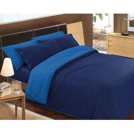Gipetex Natural Dream Italské povlečení 100% bavlna LUX Doubleface světle/tmavě modrá - 140x200cm / 70x90cm