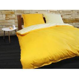 Gipetex Natural Dream Italské povlečení 100% bavlna LUX Doubleface světle/tmavě žlutá - 140x200cm / 70x90cm