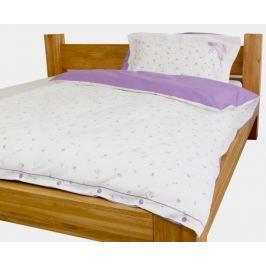 Gipetex Natural Dream Italské povlečení 100% bavlna LUX Viola se dvěma povlaky na polštář - 140x200 / 50x70 + 70x90 Ložní povlečení