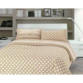 Gipetex Natural Dream Italské povlečení 100% bavlna Pois béžová - 140x200cm / 70x90cm