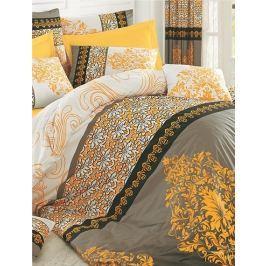 Homeville Povlečení 100% bavlna Selma žlutá se dvěma povlaky na polštář - 140x200 / 50x70 + 70x90 Ložní povlečení