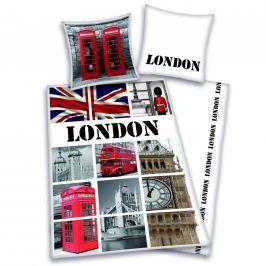 Herding Povlečení Londýn pohlednice 140x200,70x90 Ložní povlečení