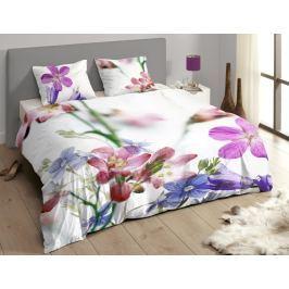 Descanso Luxusní saténové povlečení DESCANSO 9258 Feline 3D květy - 140x200-220 / 60x70 cm