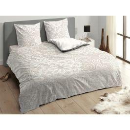 Descanso Luxusní saténové povlečení DESCANSO 9301 Lace pískové - 200x200-220 / 60x70 cm