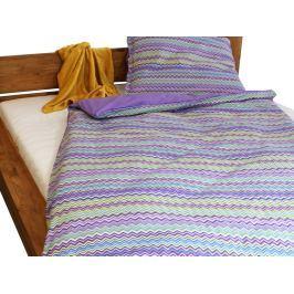 Gipetex Natural Dream Italské povlečení 100% bavlna Baia fialová 140x200 cm + 70x90 cm