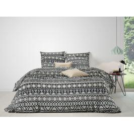 Mistral home Mistral Home povlečení 100% bavlna Crosby Black-Celadon 140x200/70x90 cm