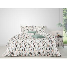 Mistral home Mistral Home povlečení 100% bavlna Feathers Coral-Celadon 140x200/70x90cm