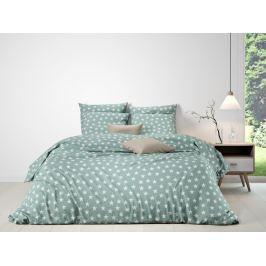 Mistral home Mistral Home povlečení 100% bavlna Portland stars Celadon green 140x200/70x90cm