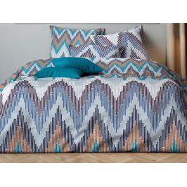 Mistral home Mistral Home povlečení bavlněný satén Misson Misty blue/Orange140x200/70x90cm