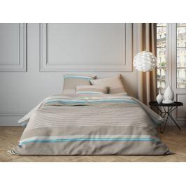 Mistral home Mistral Home povlečení bavlněný satén Sivan Sand/Turquoise 140x200/70x90cm