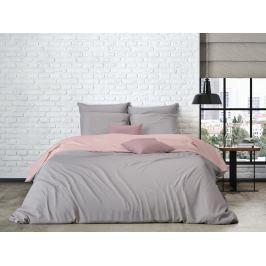Mistral home Mistral Home povlečení bavlněný perkál Doubleface šedo-béžová/ pudrová růžová 140x200/70x90cm
