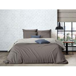 Mistral home Mistral Home povlečení bavlněný perkál Doubleface hnědá/šedo-béžová 140x200/70x90cm