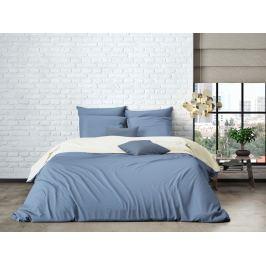 Mistral home Mistral Home povlečení bavlněný perkál Doubleface sv. modrá/bílá 140x200/70x90cm