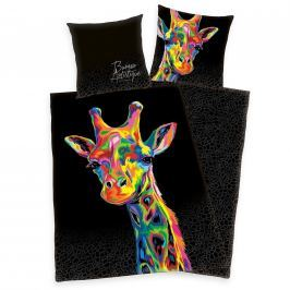 Herding Herding povlečení bavlněný satén Žirafa 140x200/70x90cm