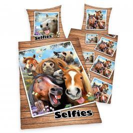 Herding Herding povlečení Selfie Koně 140x200/70x90cm