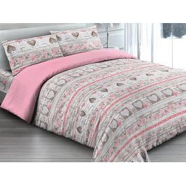 Gipetex Natural Dream Italské povlečení 100% bavlna Love rosa - 140x200 / 70x90 cm