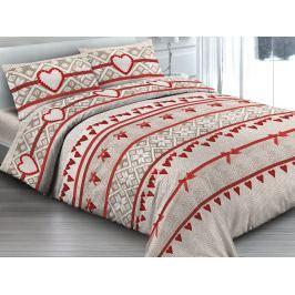 Gipetex Natural Dream Italské povlečení 100% bavlna Maglia rosso - 140x200 / 70x90 cm