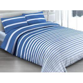 Gipetex Natural Dream Italské povlečení 100% bavlna Rigatto blue - 140x200 / 70x90 cm
