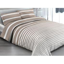 Gipetex Natural Dream Italské povlečení 100% bavlna Rigato beige - 140x200 / 70x90 cm