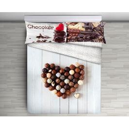 Gipetex Natural Dream 3D italské povlečení 100% bavlna Cioccolato - 140x200 / 70x90 cm Ložní povlečení