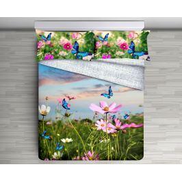 Gipetex Natural Dream 3D italské povlečení 100% bavlna Garden - 140x200 / 70x90 cm