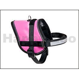 Postroj FLAMINGO Teeny Weeny růžový (M) 31-40x1,5cm