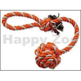 Hračka DOG FANTASY bavlna - přetahovadlo oranžovo-bílé házecí 35