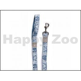 Vodítko ZOLUX Envy Hippy modré (L) 2,5x120cm