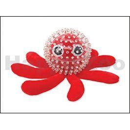 Hračka DOG FANTASY plyš TPR guma - Sea chobotnice v míčku 9cm
