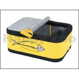 Iglu/pelech pro kočky ZOLUX Sardine žlutý 55x35cm
