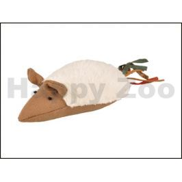 Hračka pro kočky FLAMINGO - Rila myš s třásněmi 16x5x4cm