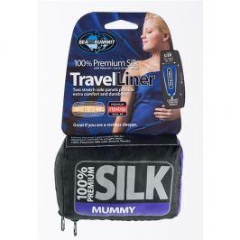Sea to Summit Vložka do spacáku STS Silk Liner Mummy with Tappered Shape Barva: navy blue
