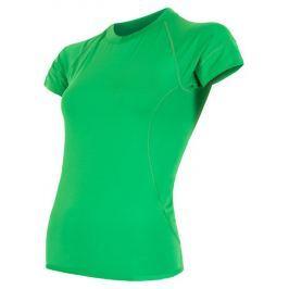 Dámské funkční triko Sensor Coolmax Fresh kr. rukáv Velikost: S / Barva: zelená