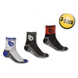 Ponožky Sensor Race Lite Ruka 3 pack Velikost ponožek (EU): 43-46 (9-11) / Barva: modrá/černá/červená