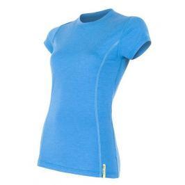 Dámské triko Sensor Merino Wool Active kr.r. Velikost: L / Barva: modrá