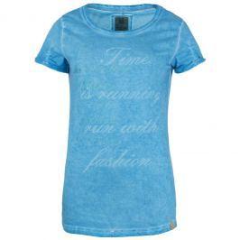 Dámské triko Loap Zubli krátký rukáv Velikost: XL / Barva: modrá