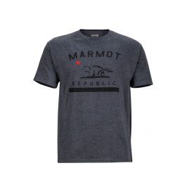 Pánské triko Marmot Marmot Republic Tee SS Velikost: S / Barva: šedá