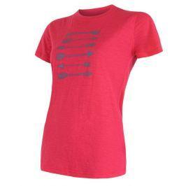 Dámské triko Sensor Merino Wool PT Šípy Velikost: M / Barva: magenta