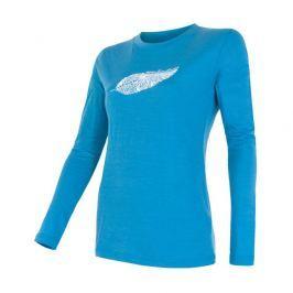 Dámské triko Sensor Merino Wool PT Feather Velikost: XL / Barva: modrá