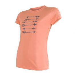 Dámské funkční triko Sensor Coolmax Fresh Šípy kr.r. Velikost: M / Barva: oranžová