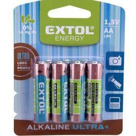 Baterie alkalické AA Extol Ultra+ 4ks