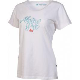 Dámské triko Alpine Pro Fonta Velikost: S / Barva: bílá