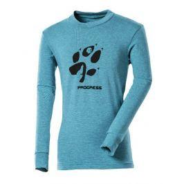 Dětské triko Progress DT PEDRO KID 26GA Vlčí stopa Dětská velikost: 116 / Barva: modrá
