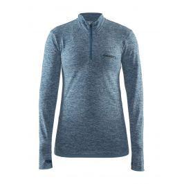 Dámské triko Craft Active Comfort Zip LS Velikost: M / Barva: modrá