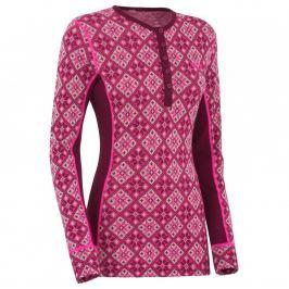 Dámské vlněné triko Kari Traa Rose LS Velikost: M / Barva: růžová (blush)