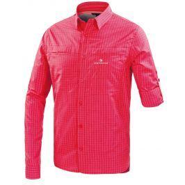 Pánská košile Ferrino Perinet Long Sleeve Man Velikost: XL / Barva: červená