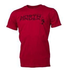 Pánské triko Northfinder Damari Velikost: XXL / Barva: červená
